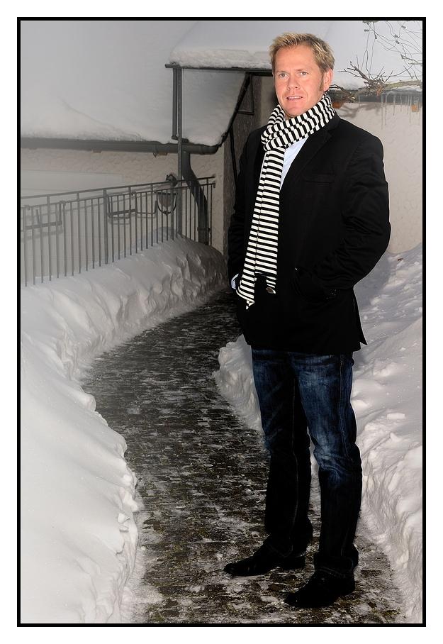 Mann im Schnee