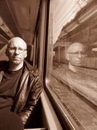 Mann im Zug