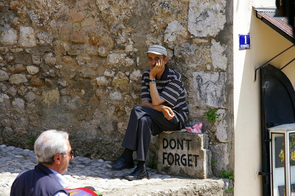 Mann in Mostar