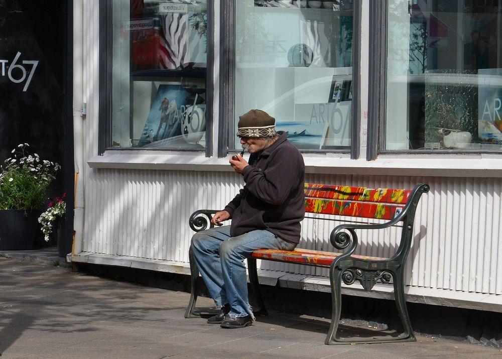 Mann in Reykjavik