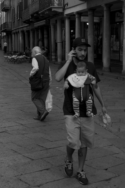 Mann mit Kind