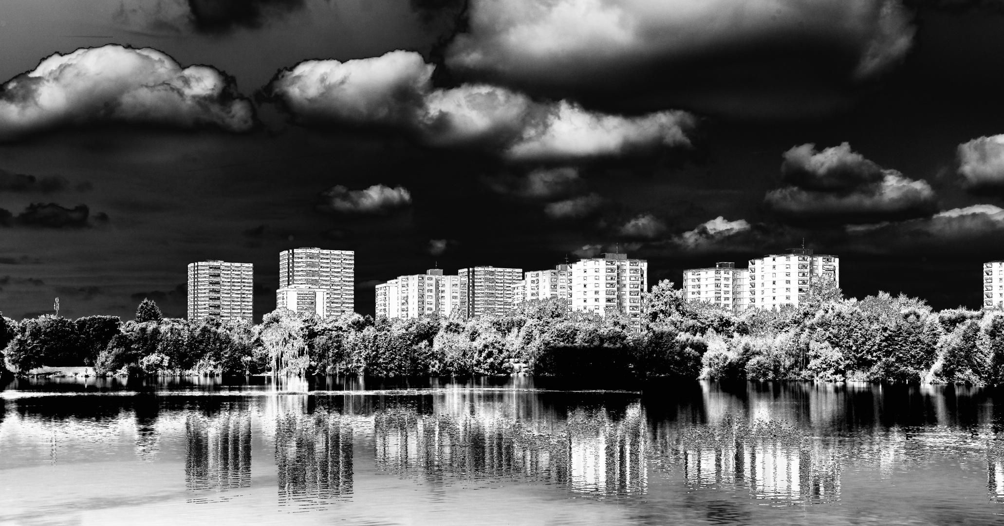 Mannheim, Blick auf Vogelstang