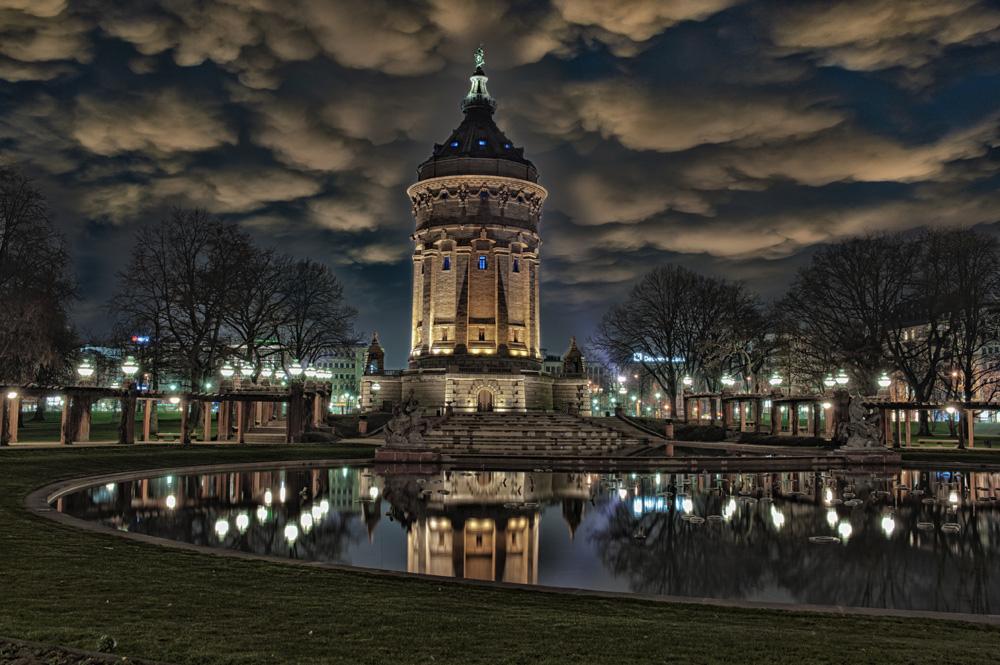 Mannheim wasserturm foto bild fotomontage - Architektur mannheim ...