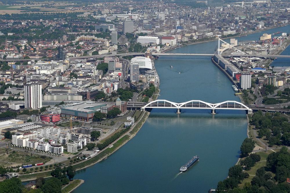 Mannheim/Ludwigshafen von oben