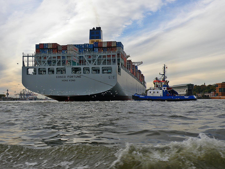 Manöver auf der Elbe