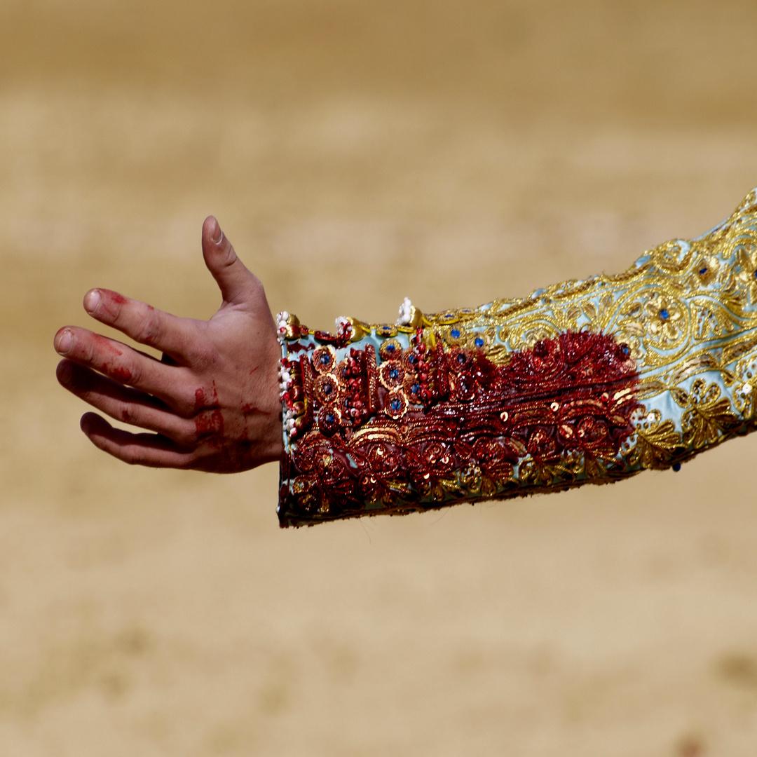 manos ensangrentadas