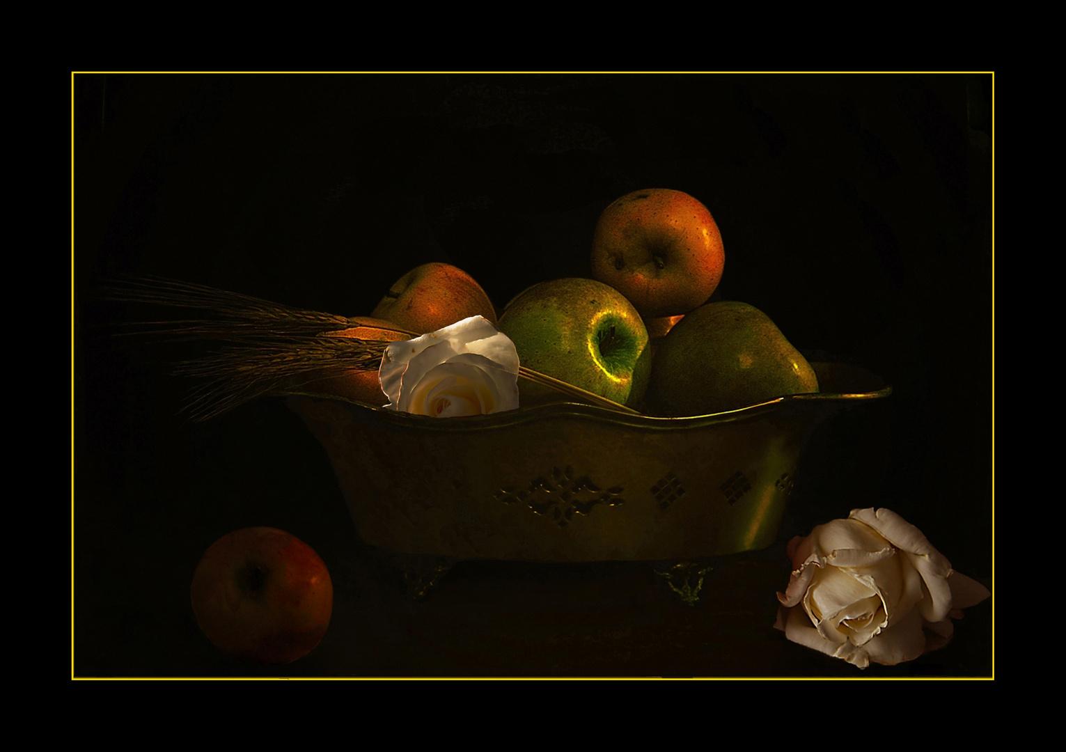 Manzanas y rosas