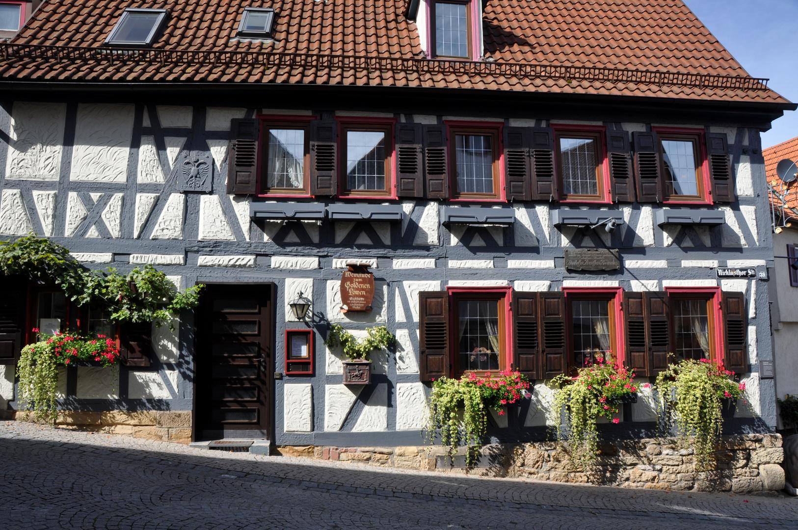 Marbach am Neckar Gasthaus zu goldenen Löwen