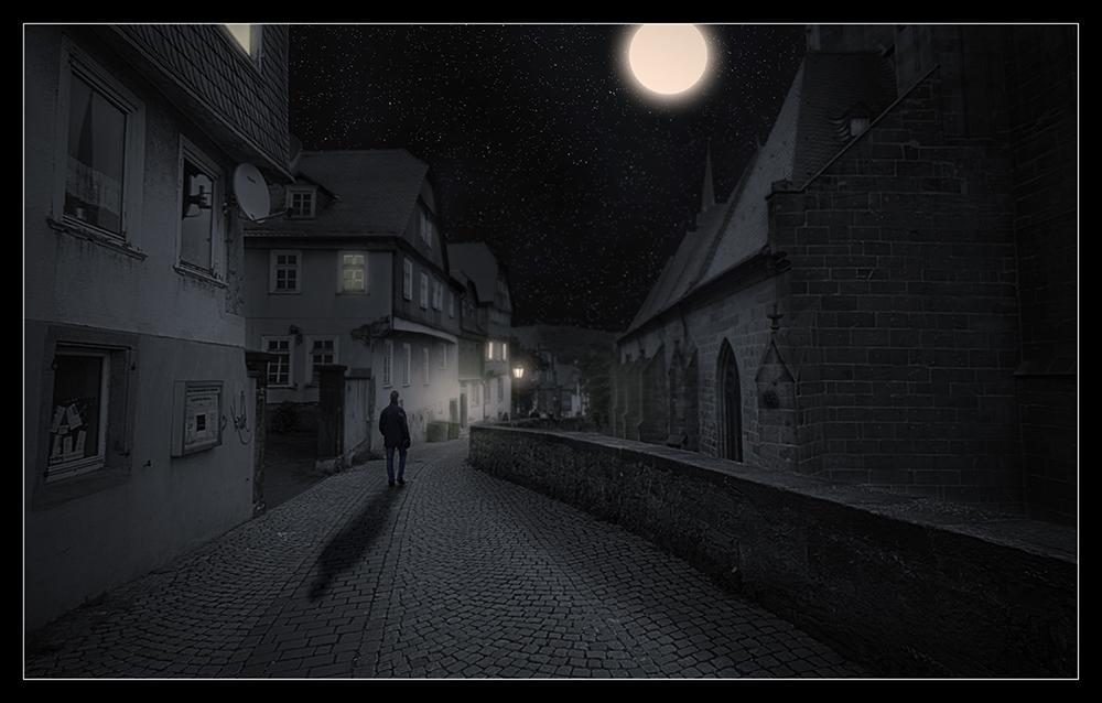 Marburg bei Nacht