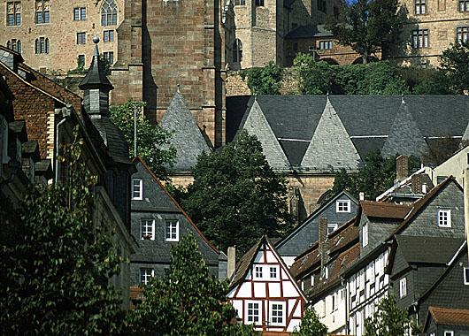 marburg - blick auf kirche und schloß