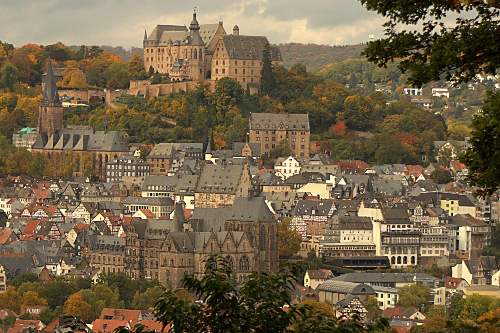 Marburger Landgrafenschloß mit Unikirche & Lutherkirche