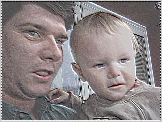 Marc und sein Papa...