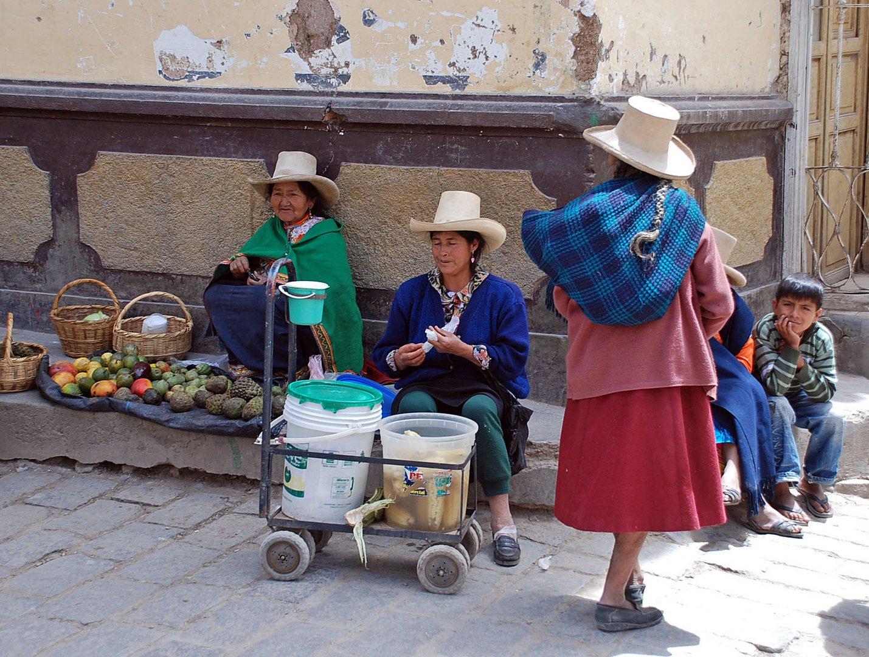 marchandes de fruits à Otuzco