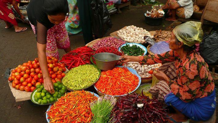 marché à Lombok