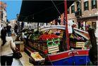 marché flottant à Venise