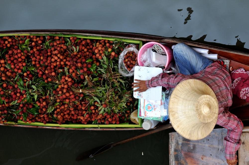 Marché flottant Bangkok.