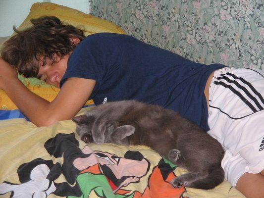 Marco + mika schlafen