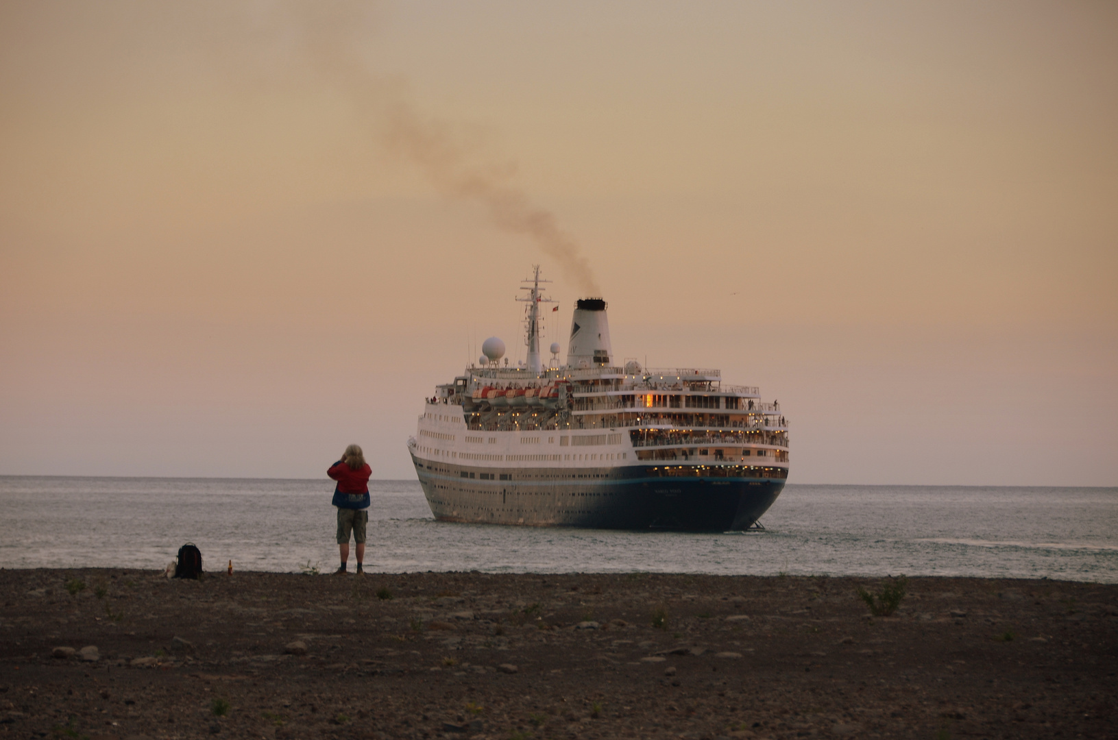 Marco Polo läuft aus Funchal aus