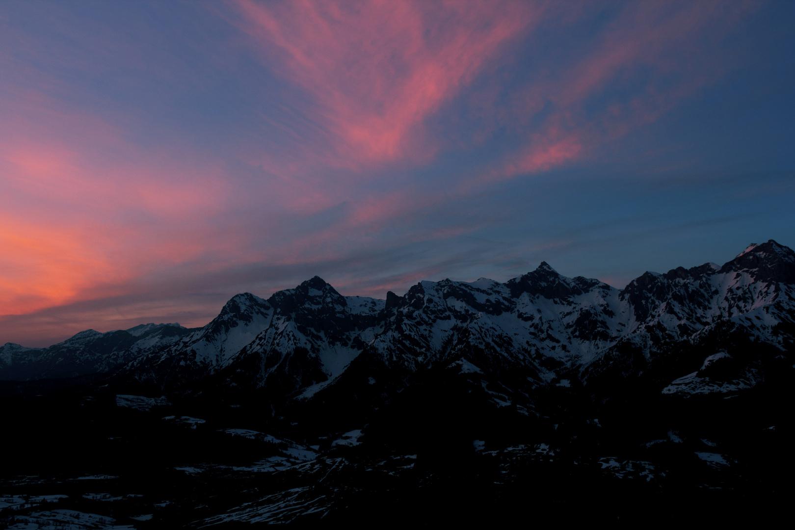 Maria Alm gorgeous sunset