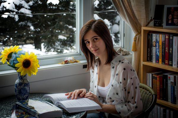 Marie-Lo à la lecture