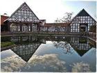 Marienfeld (Harsewinkel) - Bauernhäuser mit Spiegelung