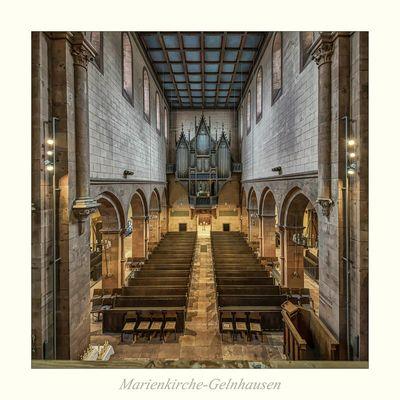 """Marienkirche - Gelnhausen """" Blick zur Orgel vom Lettner aus gesehen.."""""""