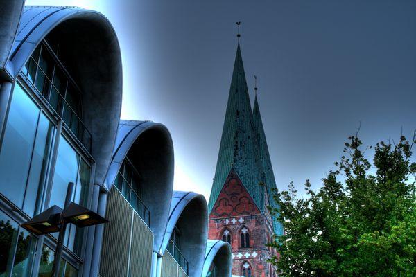 Marienkirche und P&K Lübeck