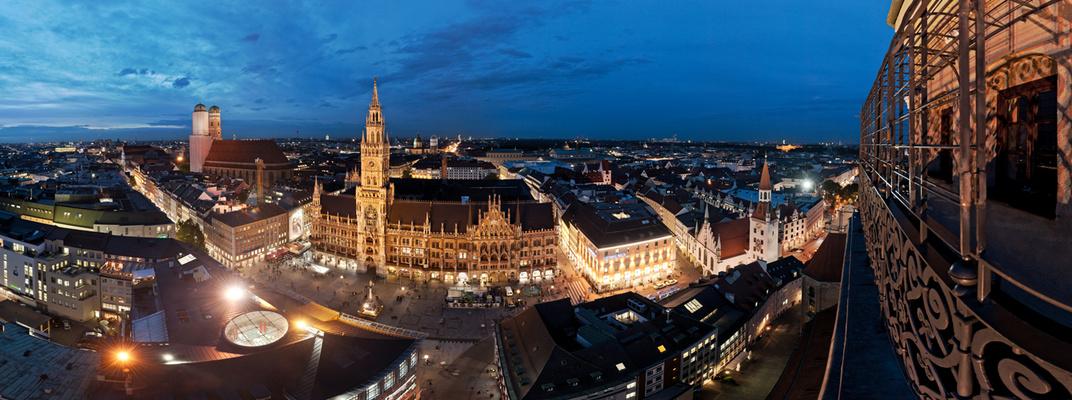 Marienplatz in München ...