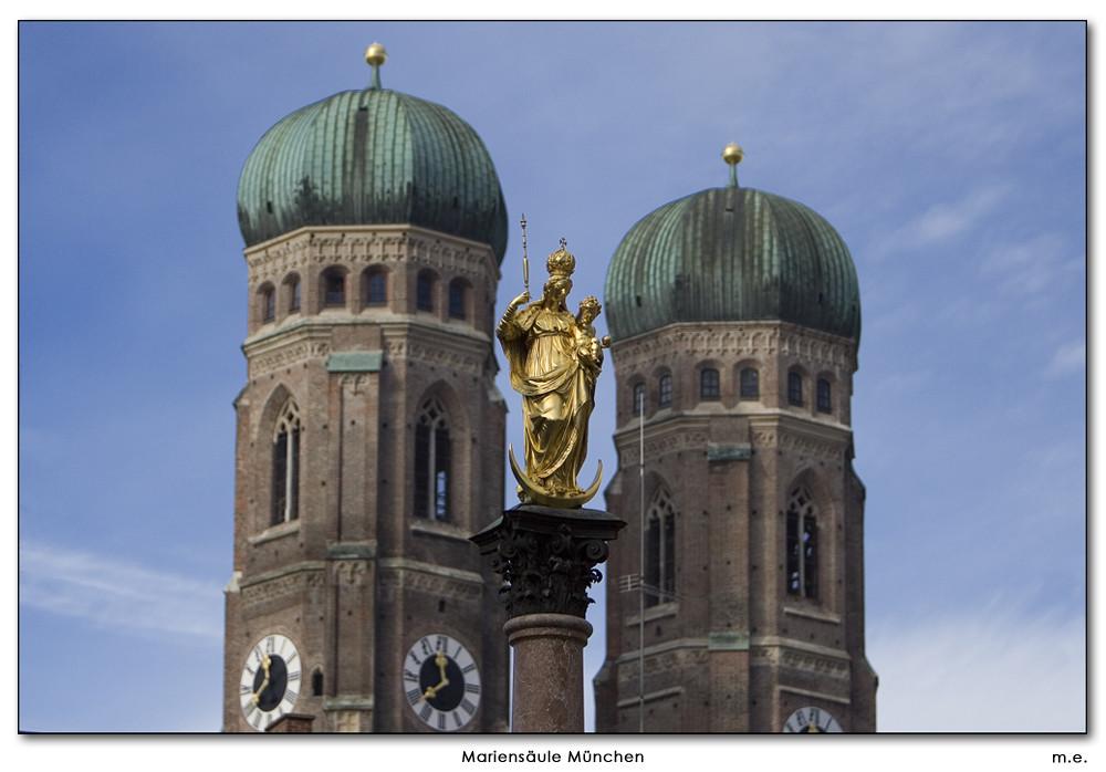 Mariensäule in München, der Mittelpunkt der Stadt