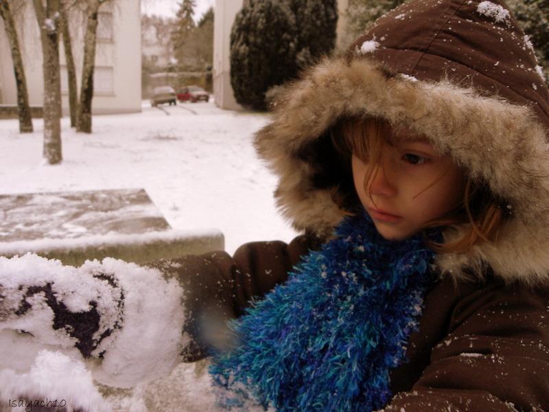Marilou sous la neige
