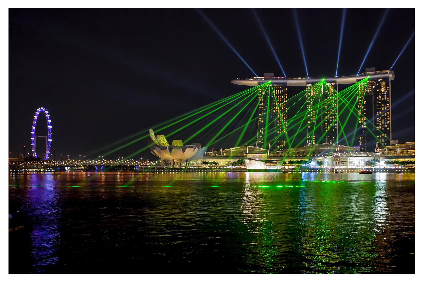 Marina Bay Sands - Laser Show