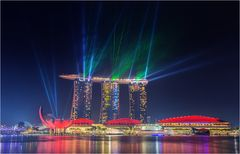 Marina bay sands Lasershow 3