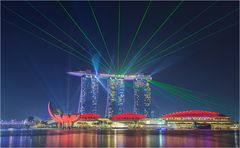 Marina bay sands Lasershow 4