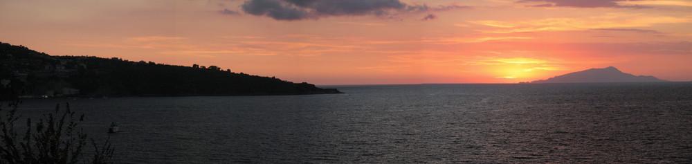 Marinella al tramonto