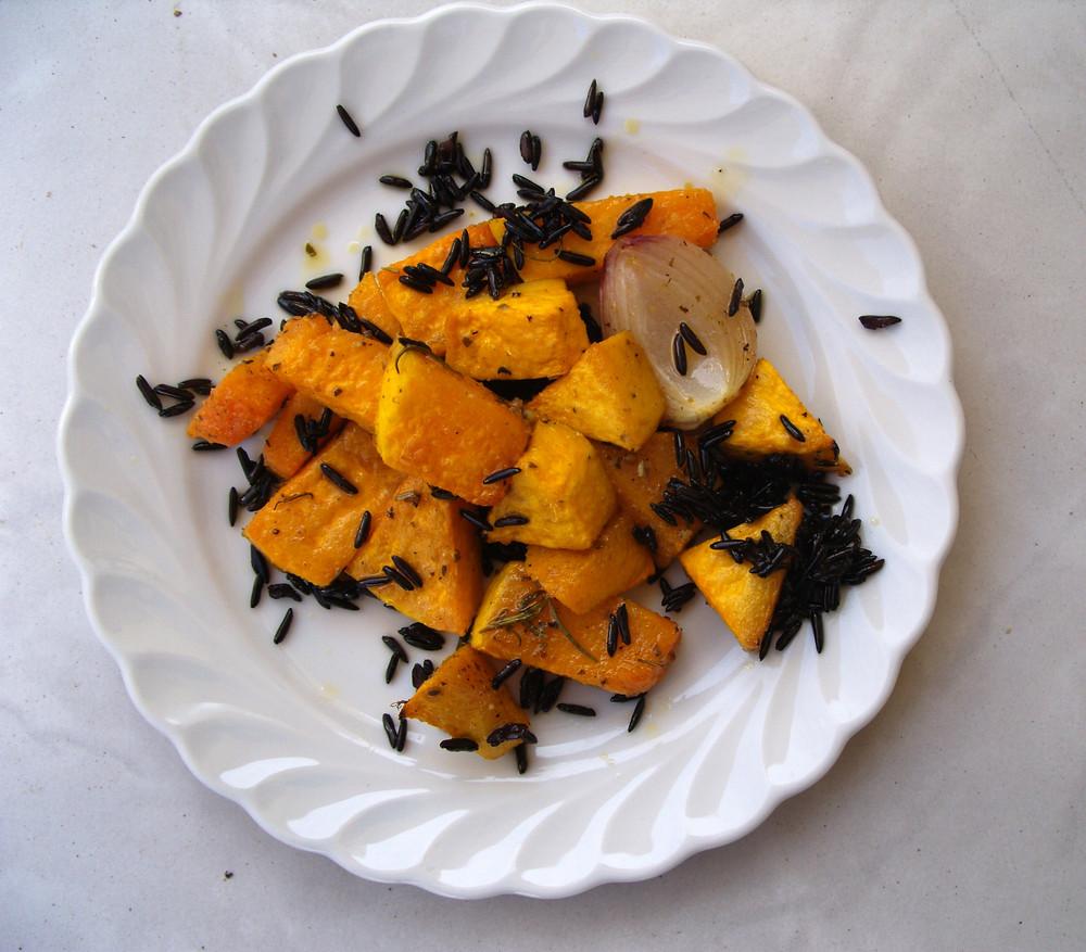 marinierte Kürbisschnitzer im Ofen