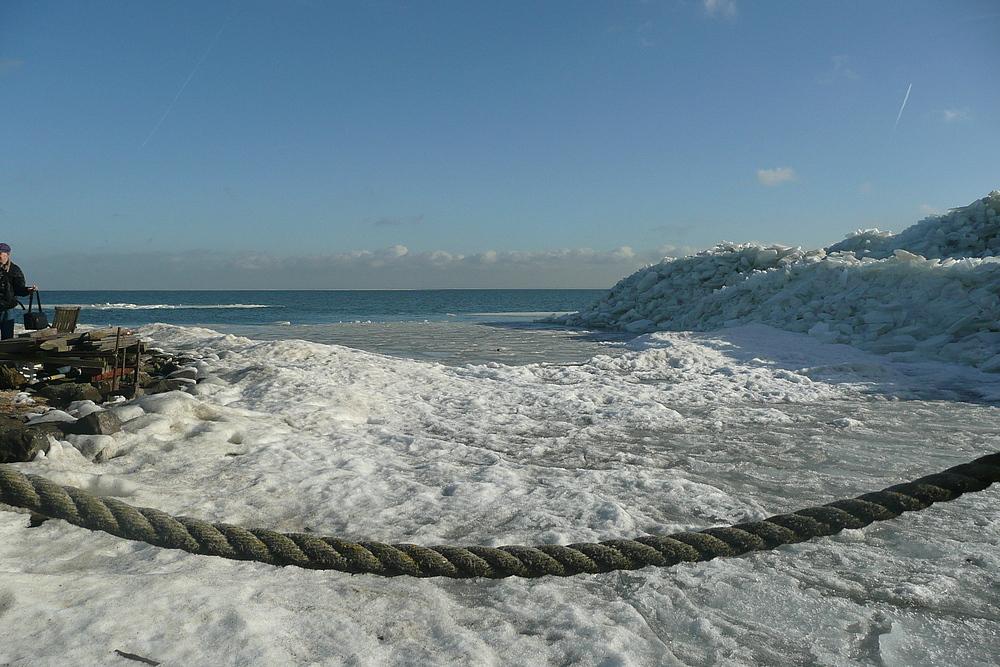 Marken, Ijsselmeer, Niederlande, Winterstimmung