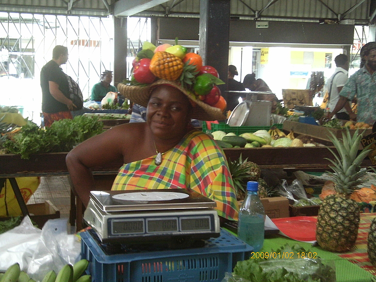 Marktfrau in Martinique