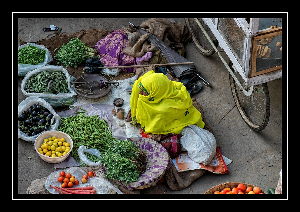 Marktfrau in Pushkar