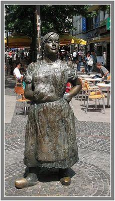 Marktfrau in Wuppertal