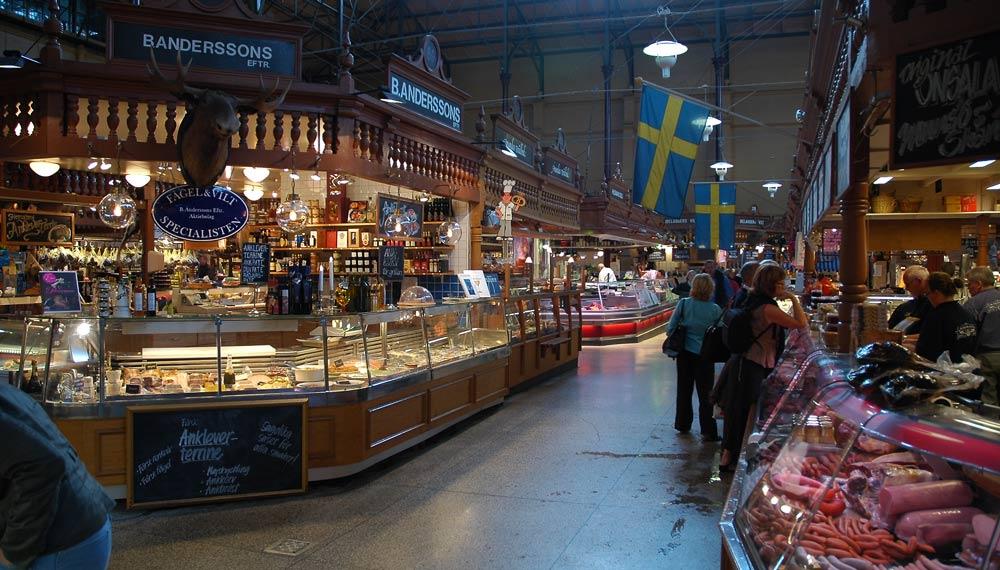 Markthalle in Stockholm