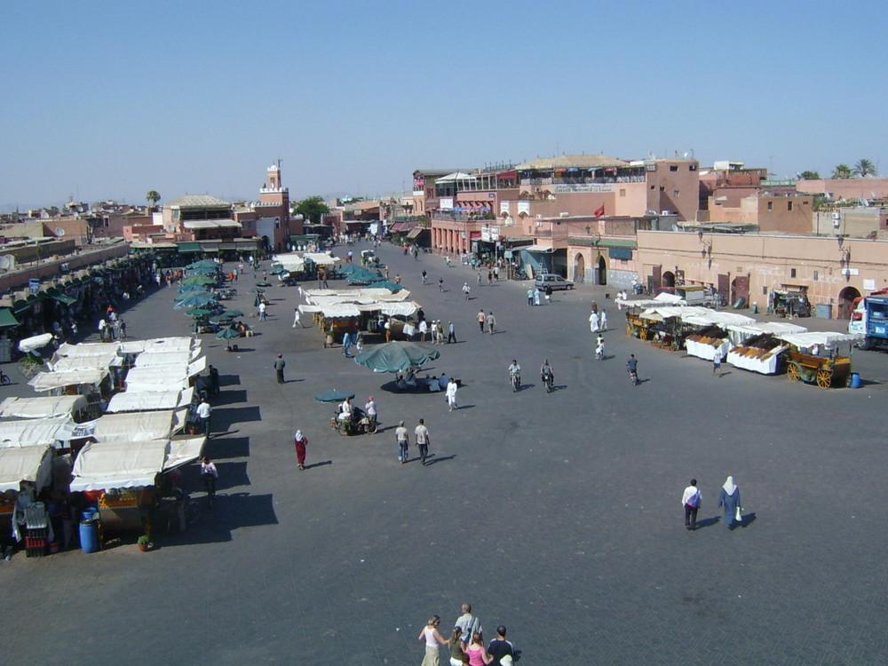 Marktplatz in Marrakech