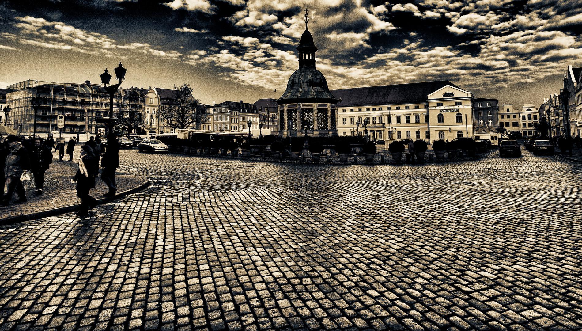 marktplatz in wismar ...