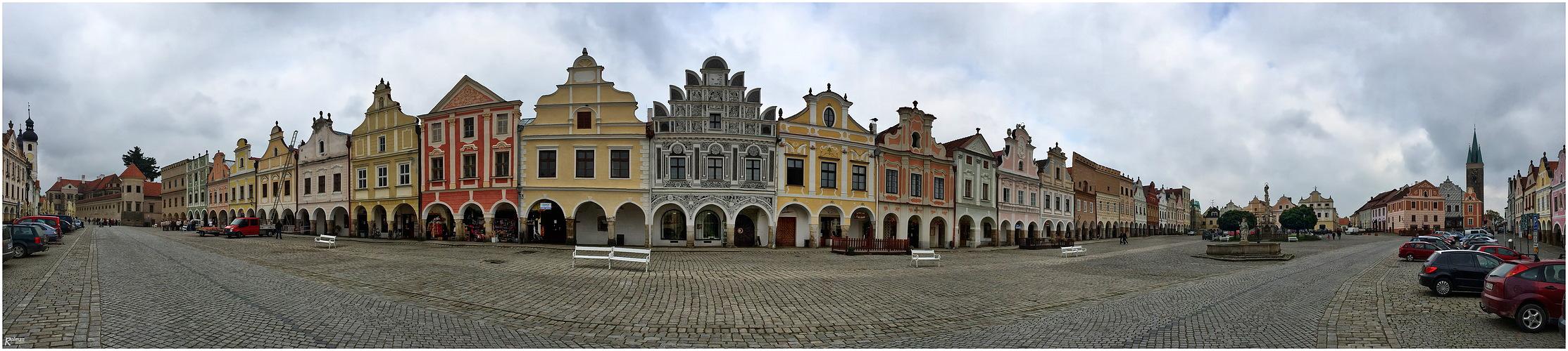 Marktplatz Teltsch (Telc) Böhmen