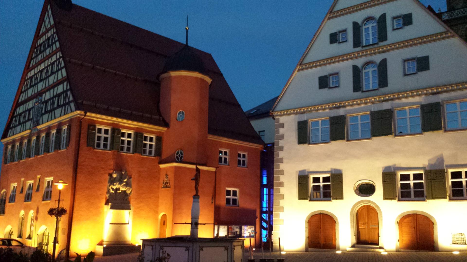 Marktplatz und Rathaus-Ensemble in Bopfingen Ostalbkreis