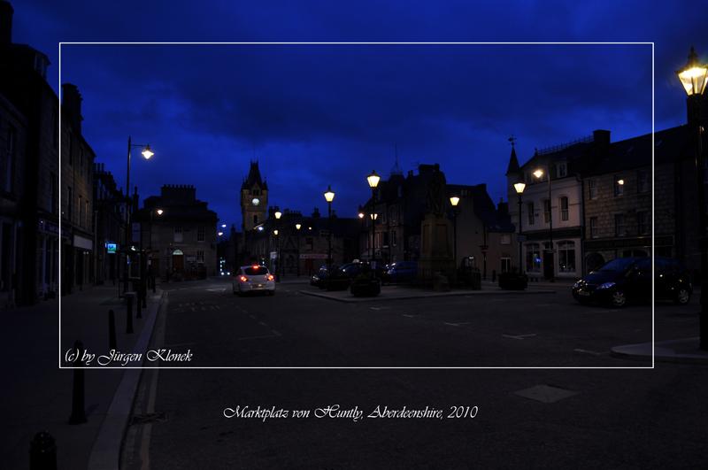 Marktplatz von Huntly, Aberdeenshire