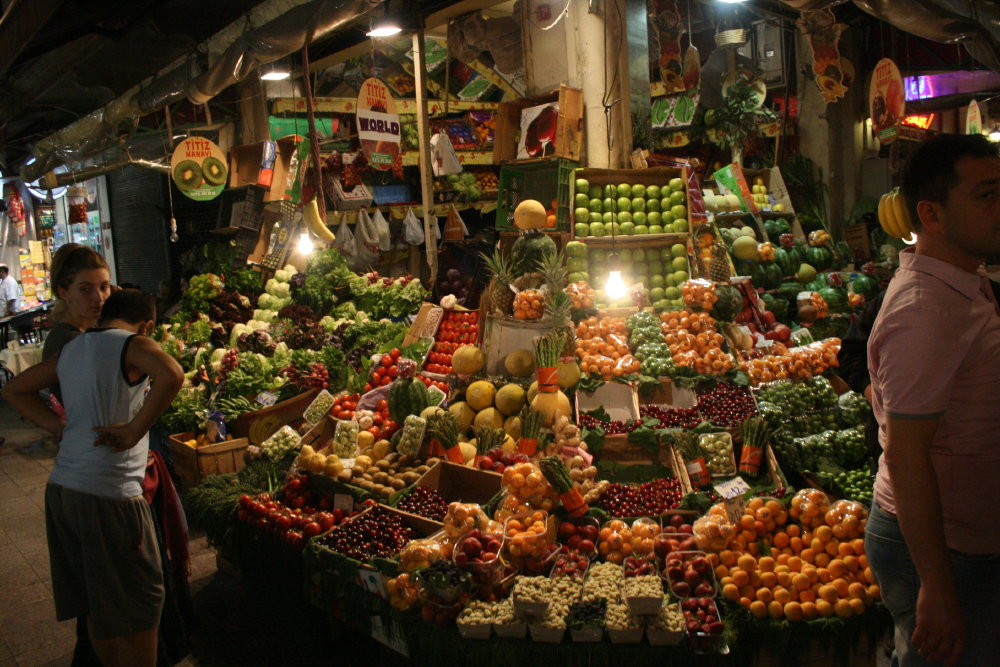 Marktstand in Taksim, Istanbul