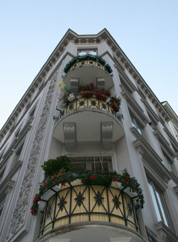 Marktstraße Hamburg heute..Balkonien