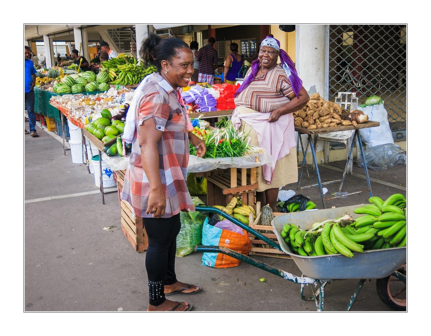 Markttag in Kourou