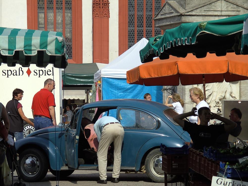Markttag in Würzburg