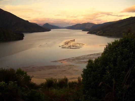 Marlborough Sounds - Neuseeland. Abendstimmung